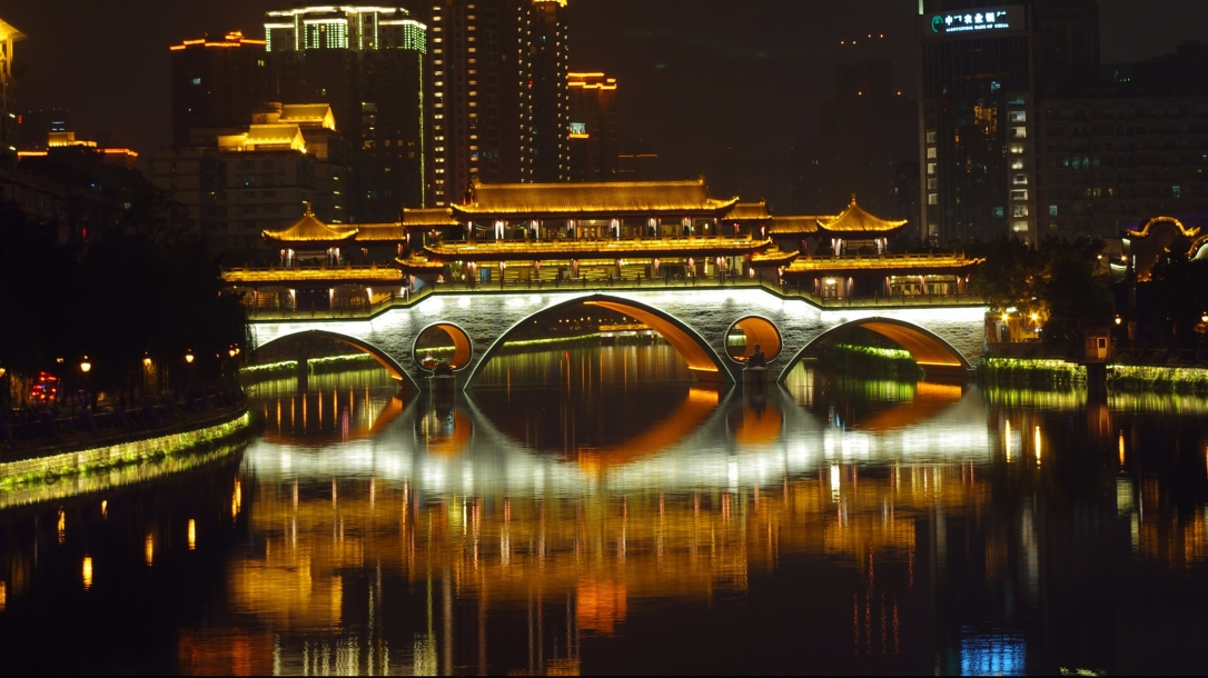 Bridge in central Chengdu,China